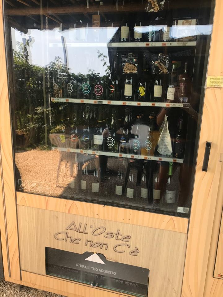 distributore automatico vino prosecco